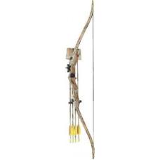 Лук MK-CB006 AC блоч., autumn camo, 20lbs, стрелы 2 шт., кивер, крага, крепеж